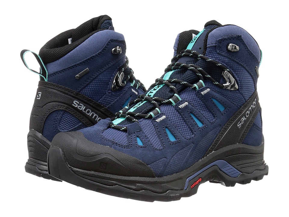 Salomon - Quest Prime GTX(r) (Slateblue/Deep Blue/Bubble Blue) Women's Shoes
