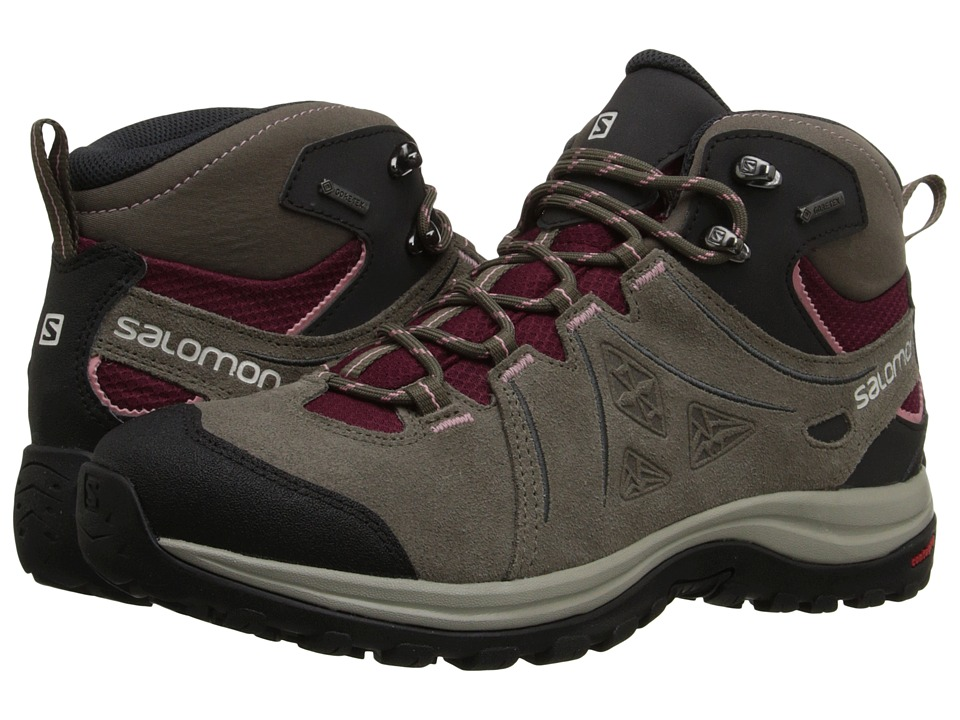 Salomon - Ellipse 2 Mid LTR GTX (Bordeaux/Swamp/Dusty Pink) Women's Shoes