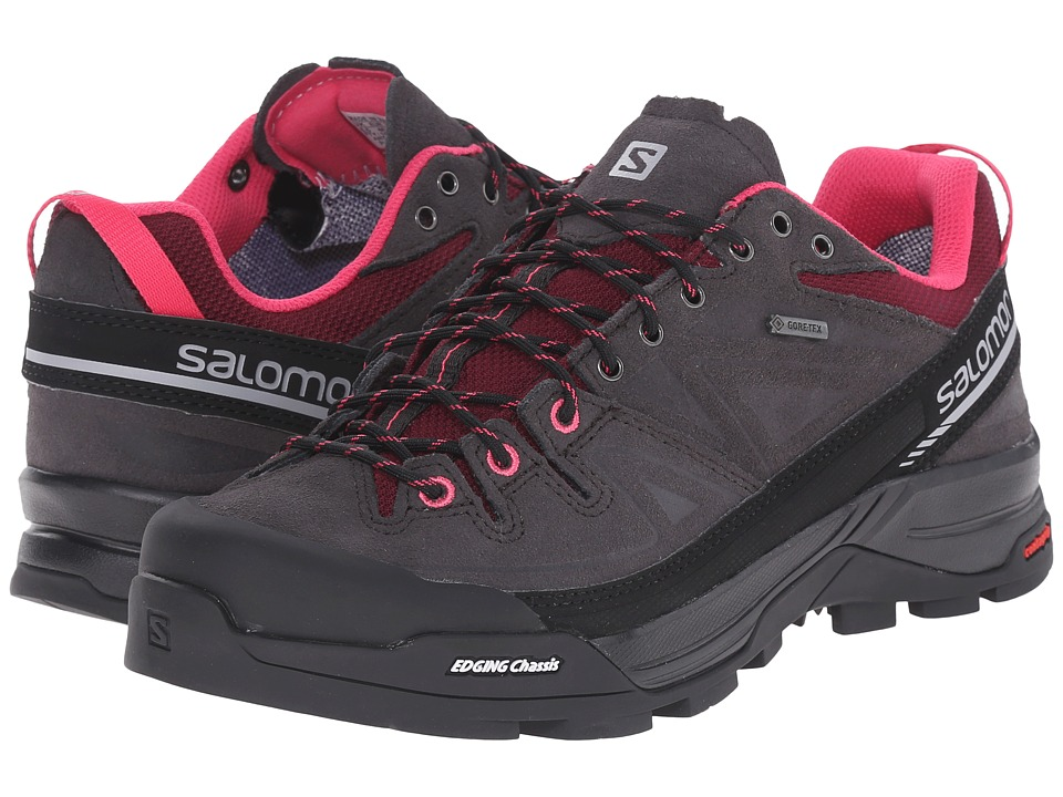 Salomon - X Alp LTR GTX (Asphalt/Bordeaux/Hot Pink) Women's Shoes