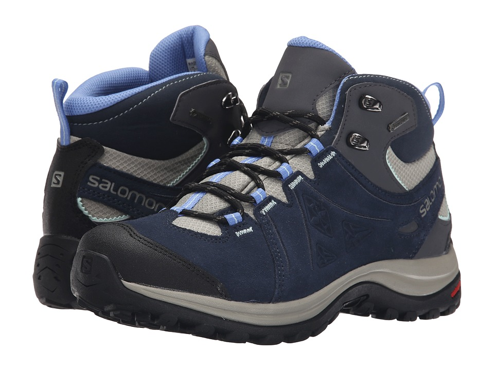 Salomon - Ellipse 2 Mid LTR GTX (Titanium/Deep Blue/Petunia Blue) Women's Shoes