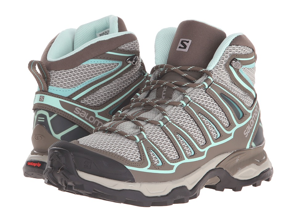 Salomon - X Ultra Mid Aero (Titanium/Swamp/Opaline Blue) Women's Shoes