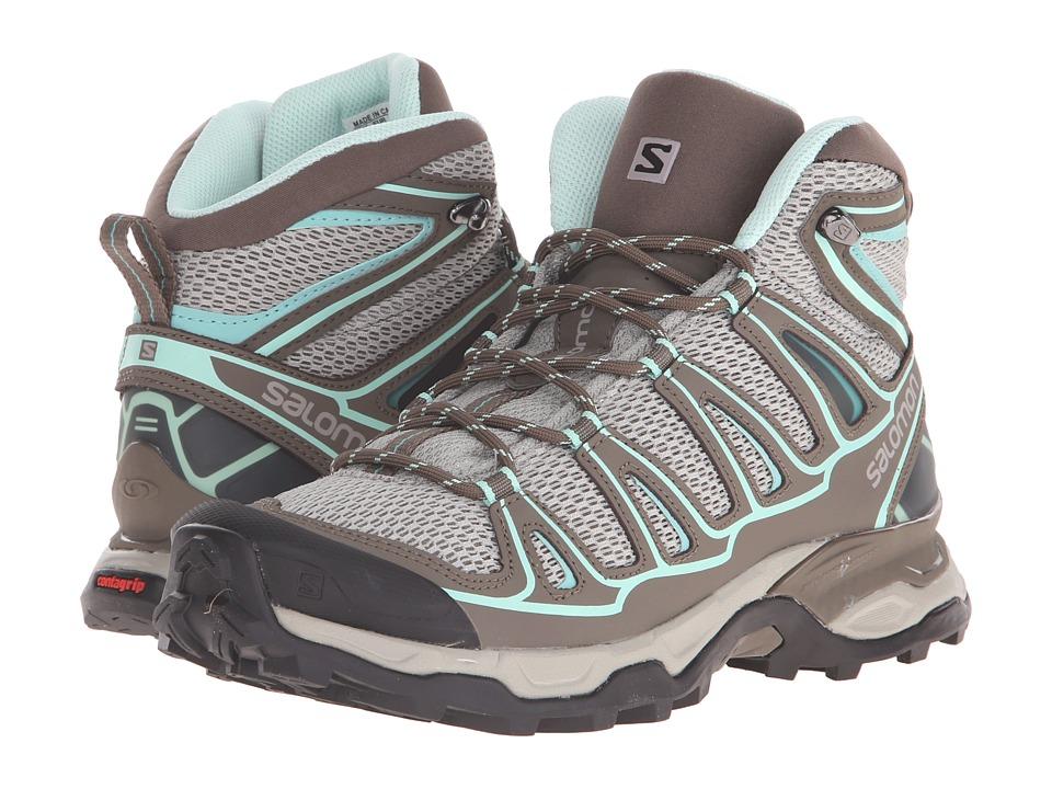 Salomon - X Ultra Mid Aero (Titanium/Swamp/Opaline Blue) Women's Shoes
