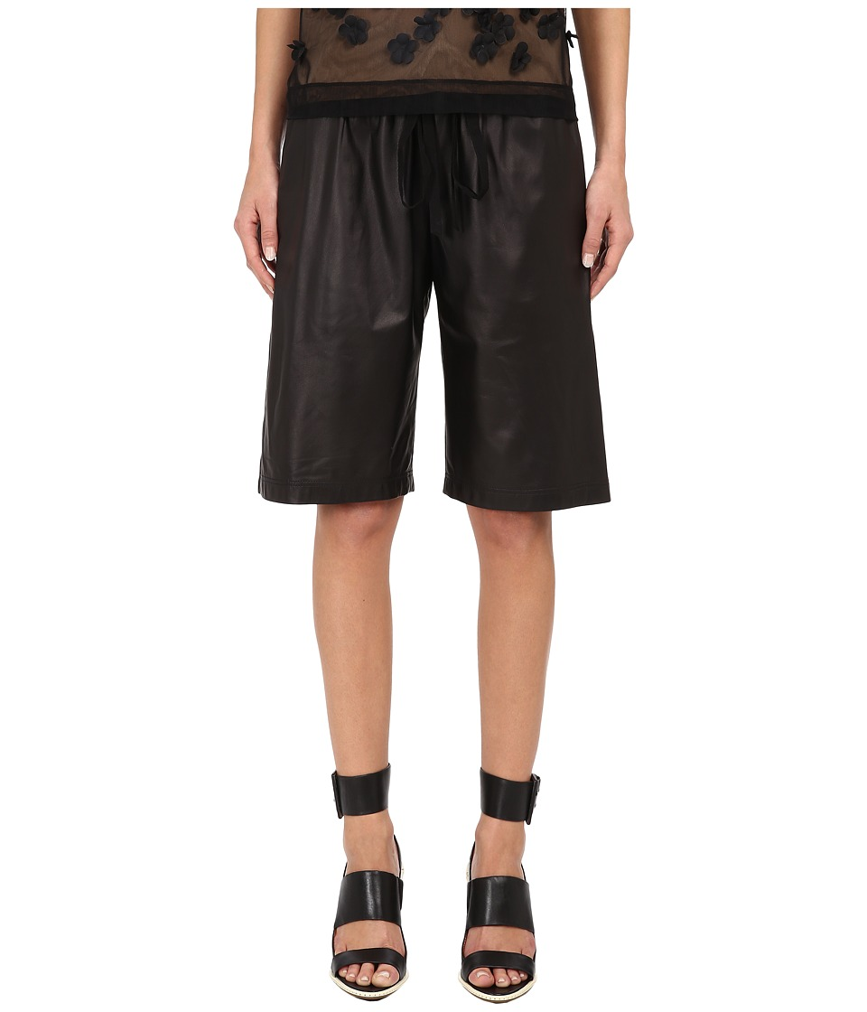 Vera Wang - Bermuda Shorts w/ Drawstring (Black) Women's Shorts