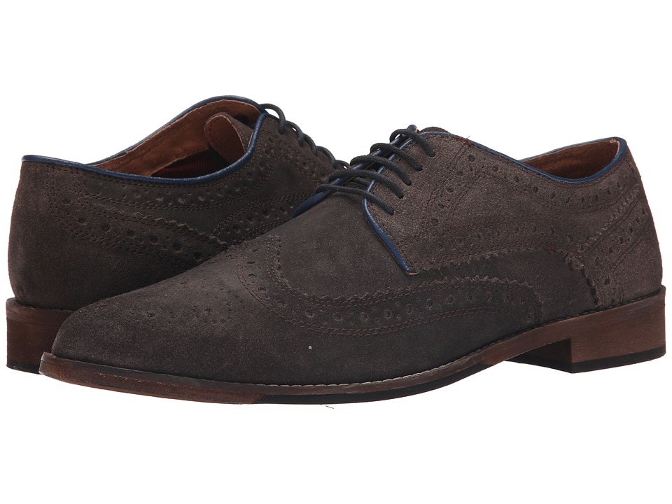 Lotus - Anton (Grey) Men's Lace Up Wing Tip Shoes