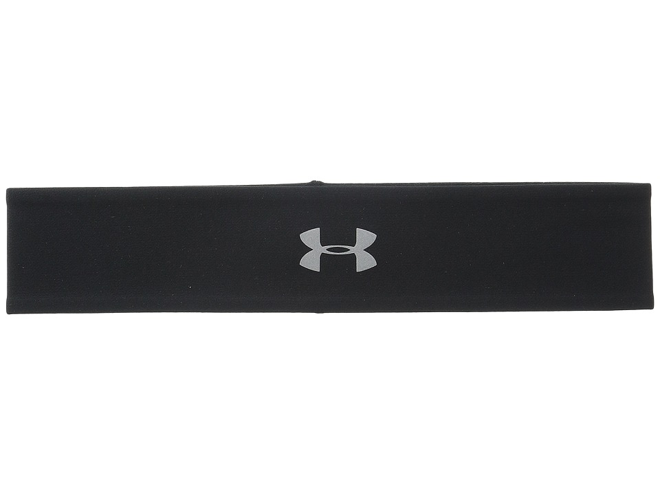 Under Armour - UA Fly Fast Reversible Headband (Black/White/Reflective) Headband
