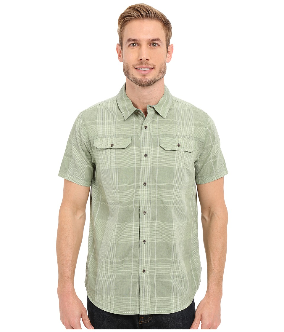 Prana - Marvin (Mint Green) Men's Short Sleeve Button Up