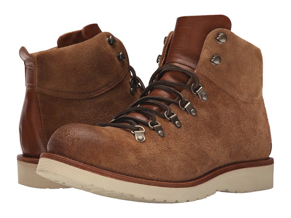 Frye - Evan Hiker (Caramel Oiled Suede) Men's Lace-up Boots