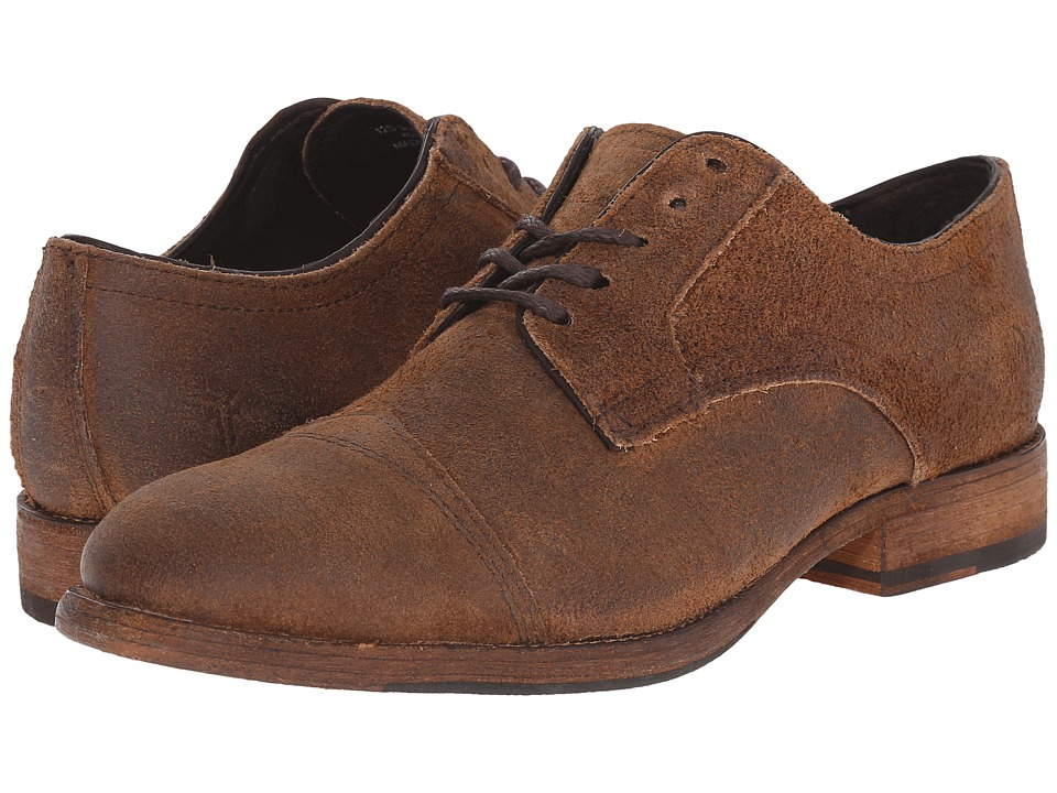 Frye Everett Cap Toe (Tan Waxed Suede) Men