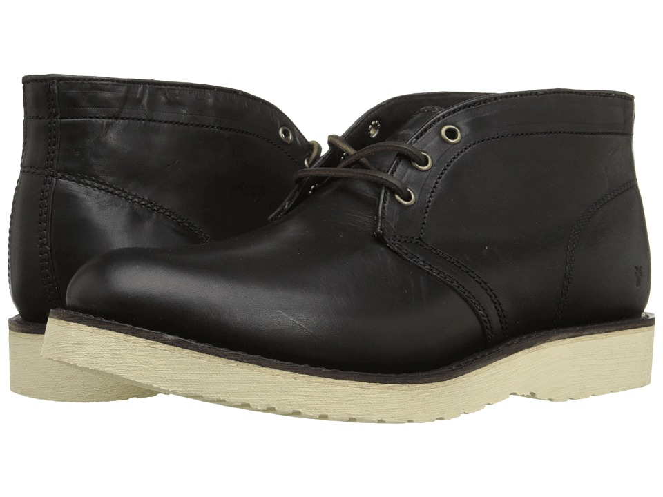 Frye Freeman Chukka (Black Vintage Pull-Up) Men