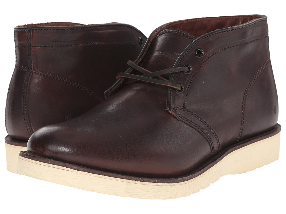 Frye Freeman Chukka (Redwood Vintage Pull-Up) Men