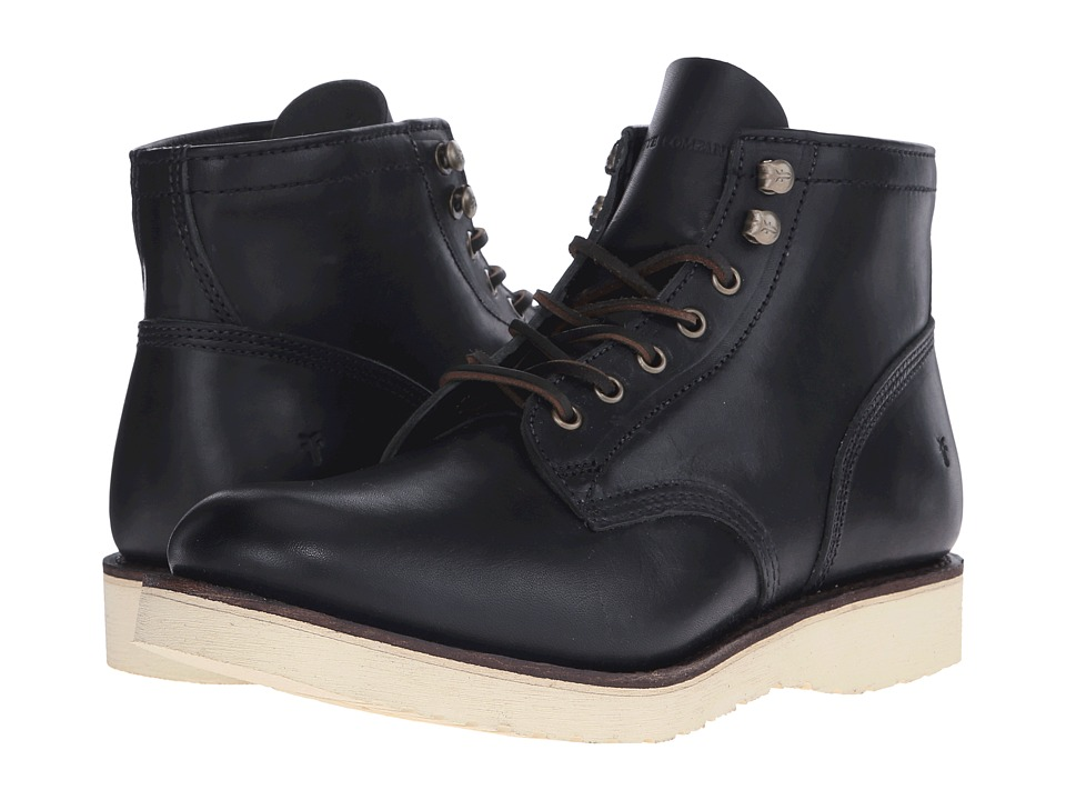 Frye Freeman Midlace (Black Vintage Pull-Up) Men