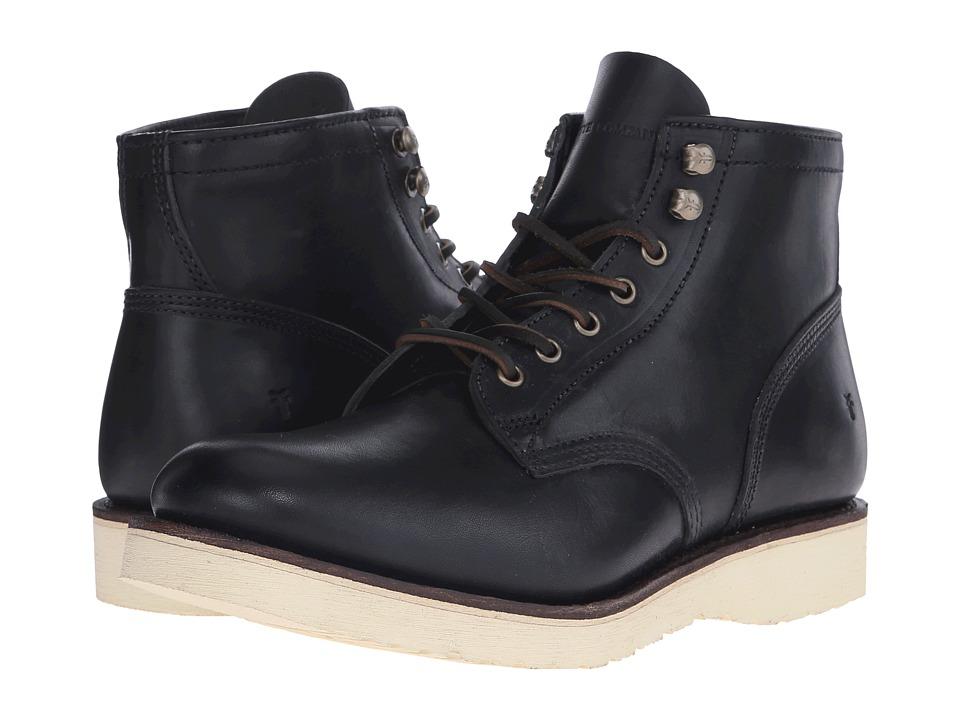 Frye - Freeman Midlace (Black Vintage Pull-Up) Men's Boots