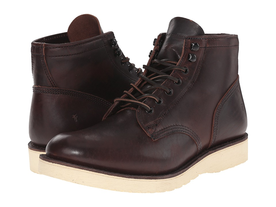 Frye Freeman Midlace (Redwood Vintage Pull-Up) Men