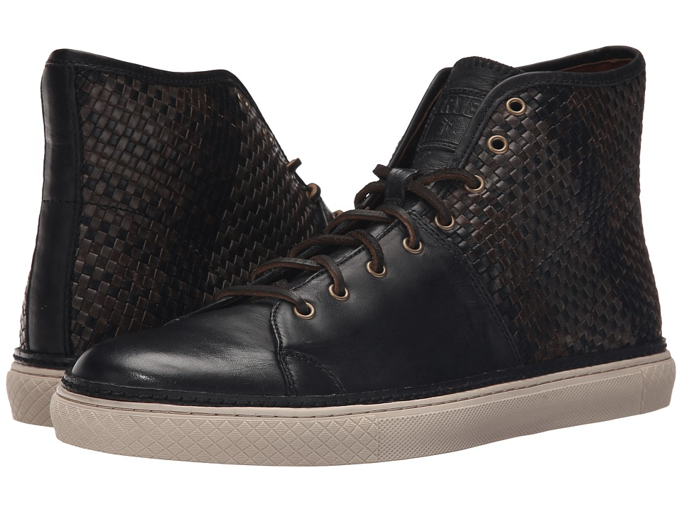 Frye - Gates High (Black Antique Pull-Up Woven) Men's Lace up casual Shoes