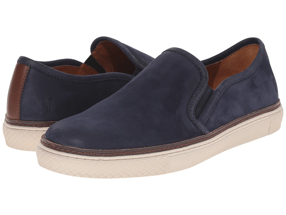 Frye Gates Slip-On (Indigo Sunwash Nubuck) Men