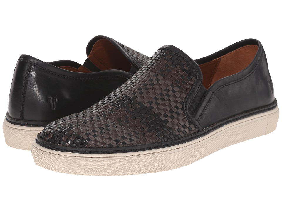 Frye Gates Slip-On (Black Antique Pull-Up Woven) Men