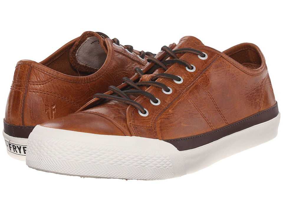 Frye Greene Low Lace (Cognac Antique Pull-Up) Men