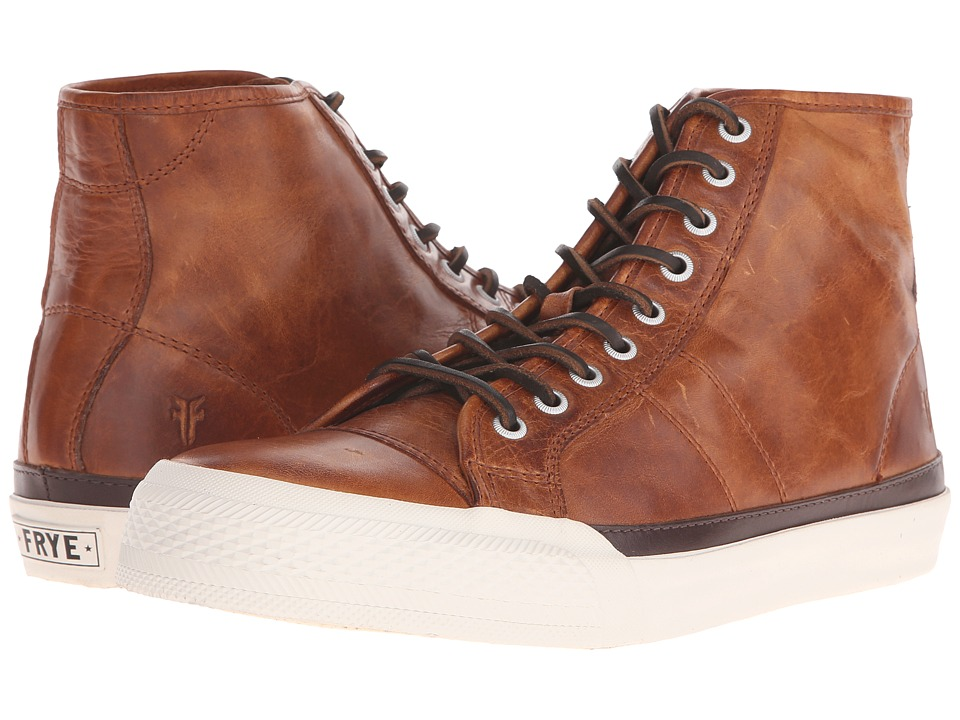Frye - Greene Tall Lace (Cognac Antique Pull-Up) Men's Lace up casual Shoes