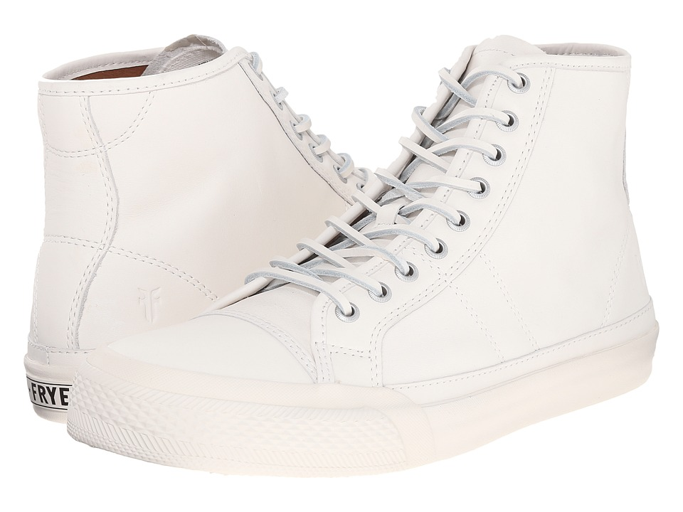 Frye Greene Tall Lace (White Matte Leather) Men