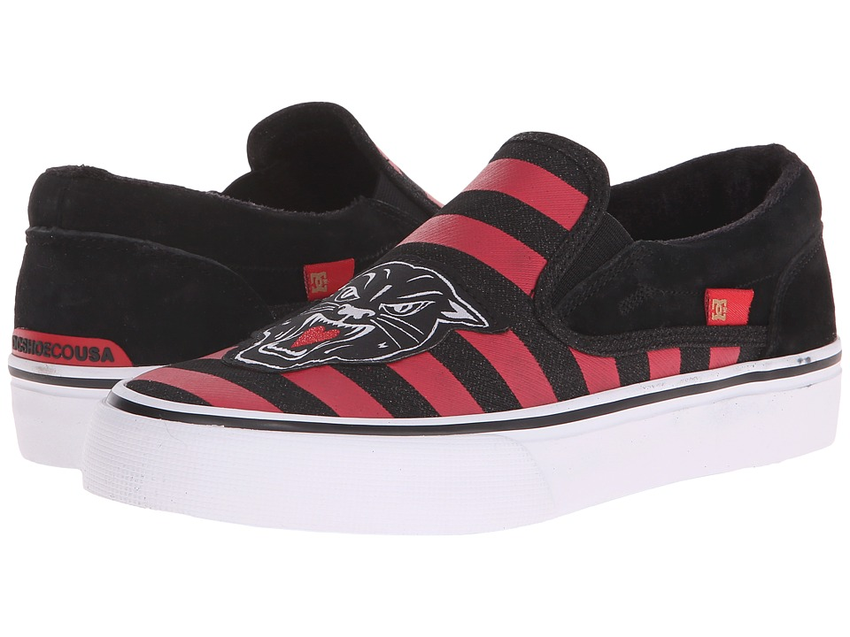 DC Trase Slip-On X TR (Red/Black) Skate Shoes