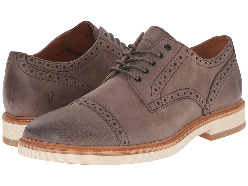 Frye - Joel Brogue Oxford (Charcoal Soft Nubuck) Men's Shoes