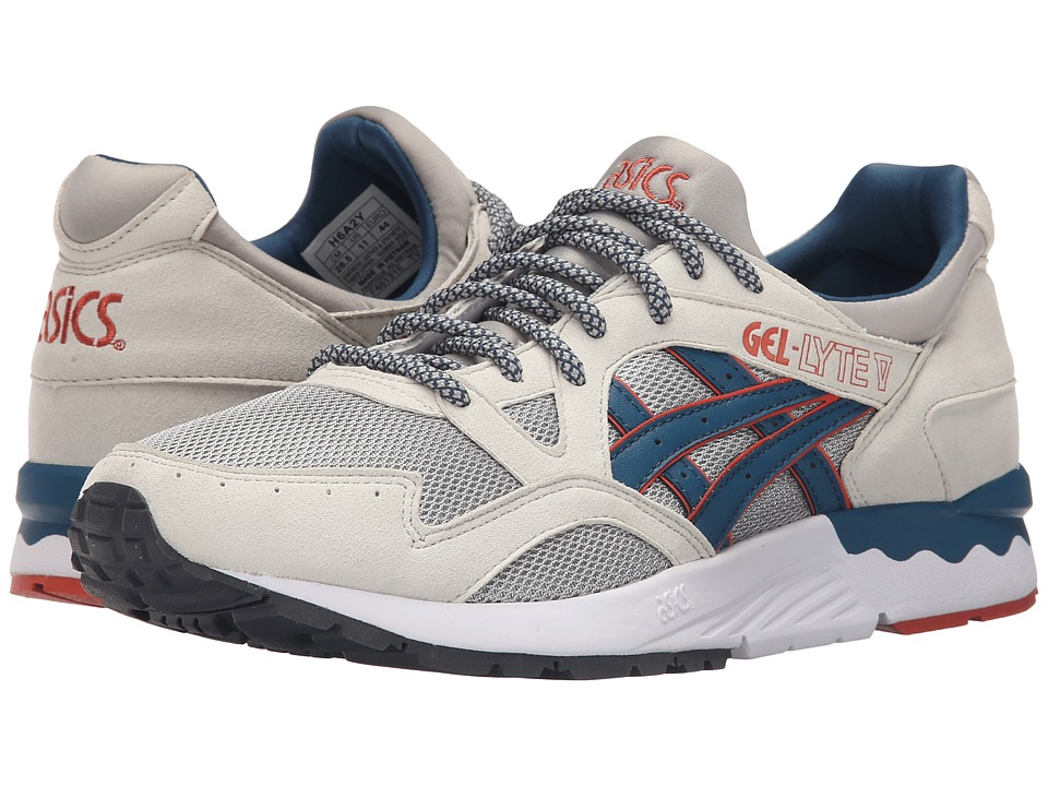ASICS Tiger - Gel-Lyte V (Light Grey/Legion Blue Suede/Mesh) Shoes