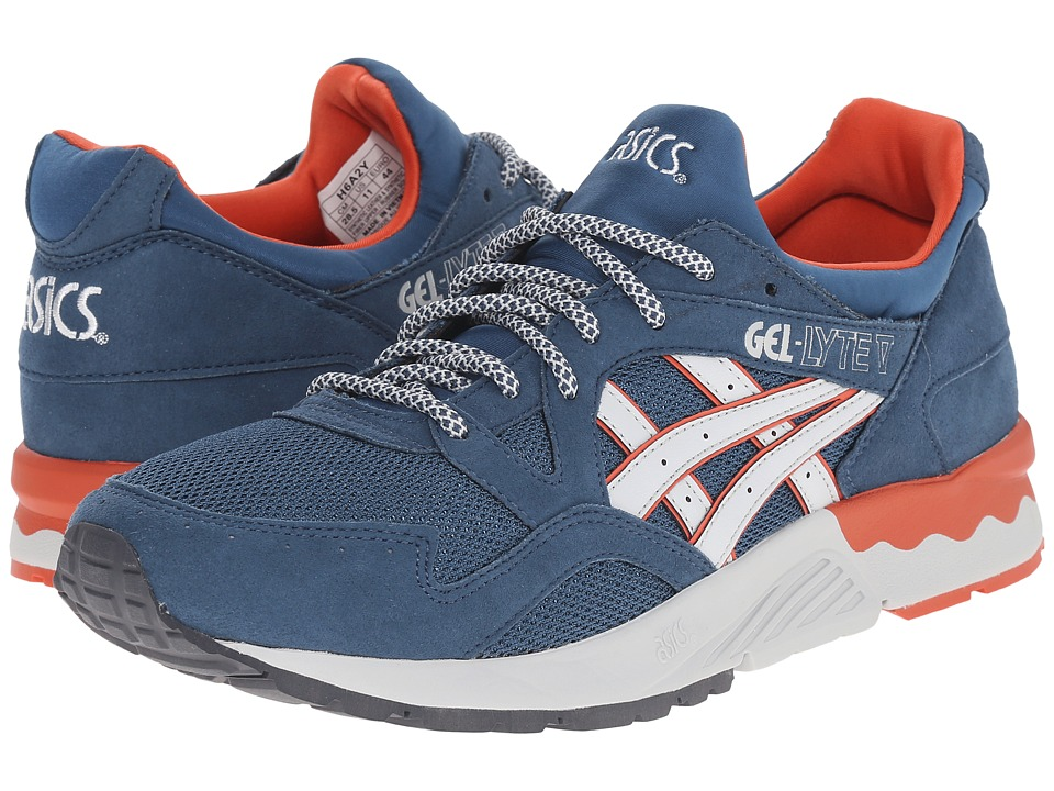ASICS Tiger - Gel-Lyte V (Legion Blue/Soft Grey Suede/Mesh) Shoes