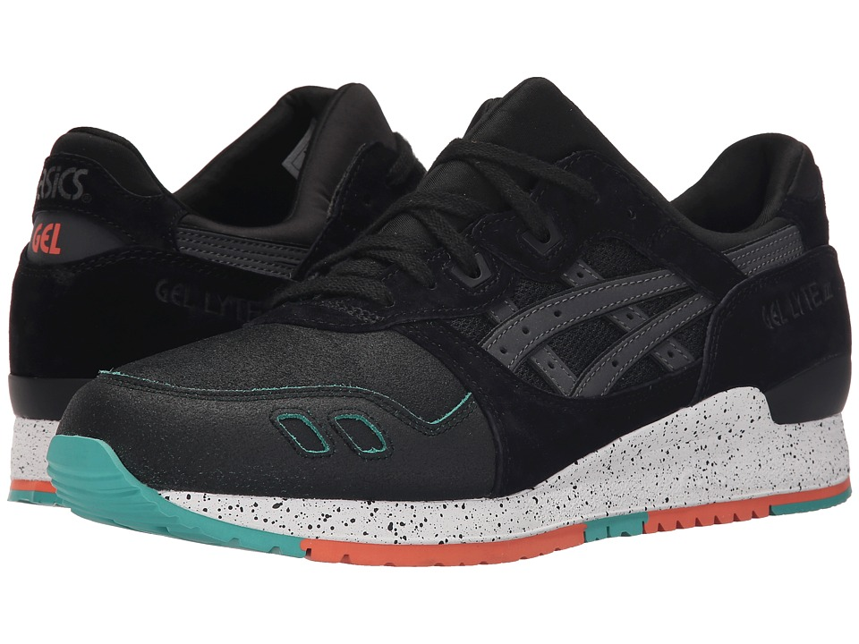 Onitsuka Tiger by Asics - Gel-Lyte III (Black/Black Crackled Suede/Nubuck) Classic Shoes