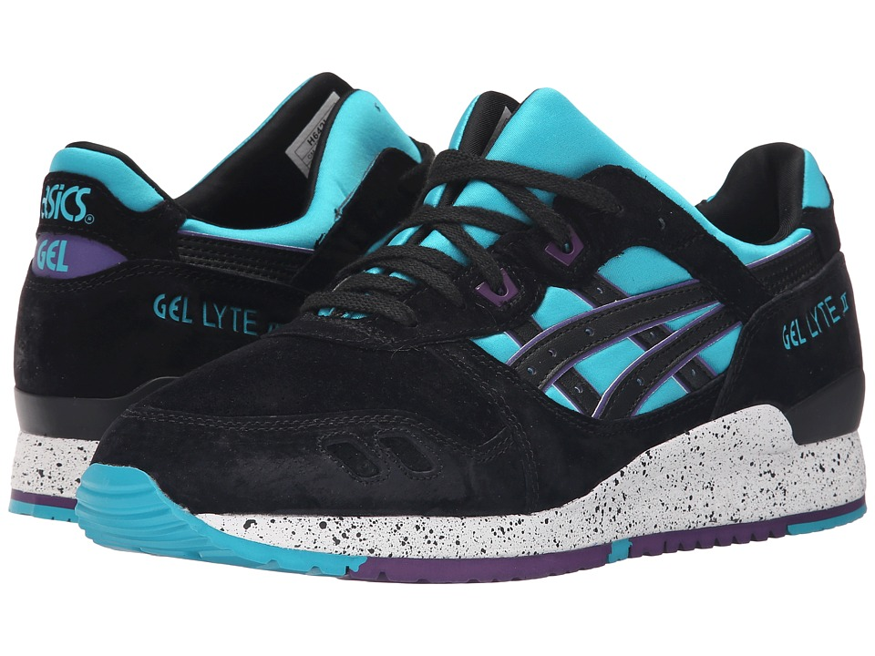 ASICS Tiger - Gel-Lyte III (Peacock Blue/Black Nubuck) Classic Shoes