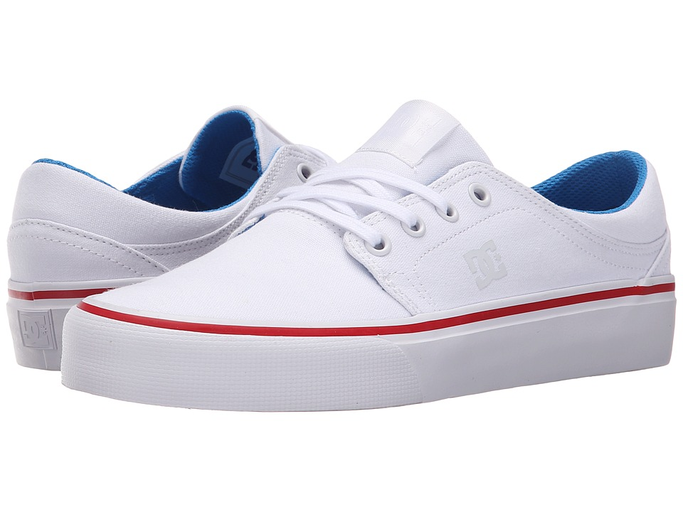 DC - Trase TX (White/Blue/Red) Women's Skate Shoes