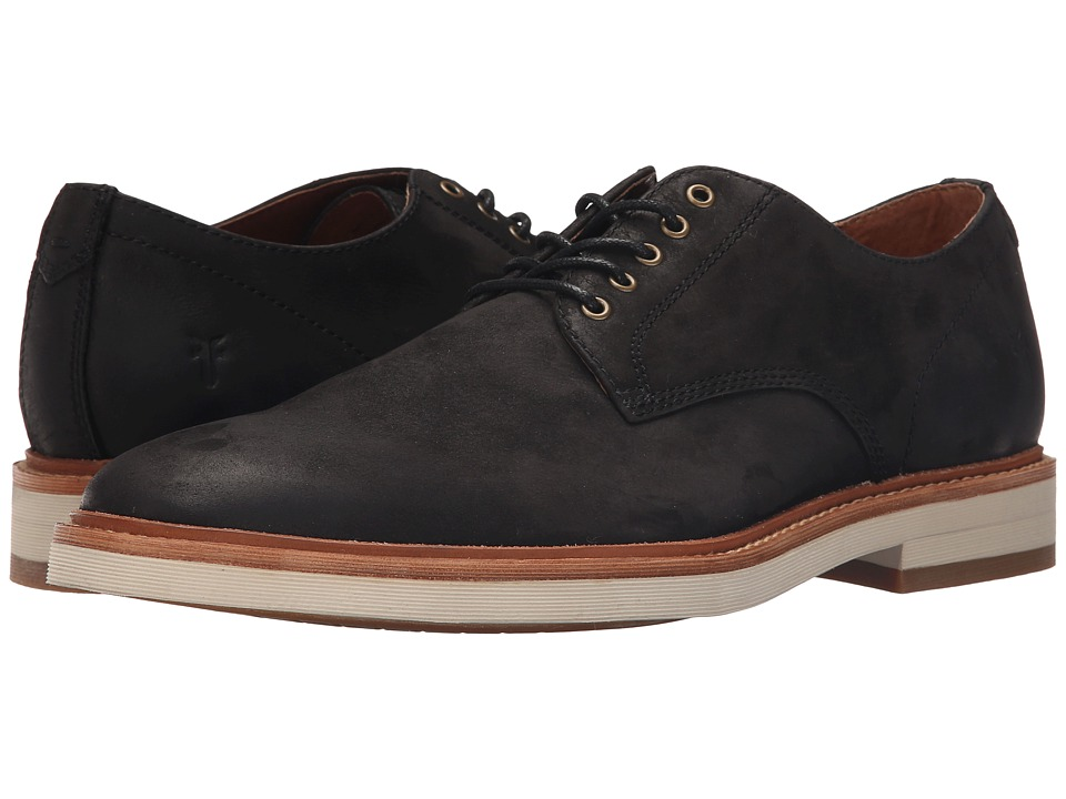 Frye Joel Oxford (Black Soft Nubuck) Men