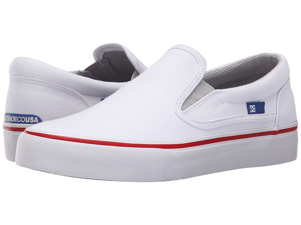 DC - Trase Slip-On TX (White/Red/Blue) Women