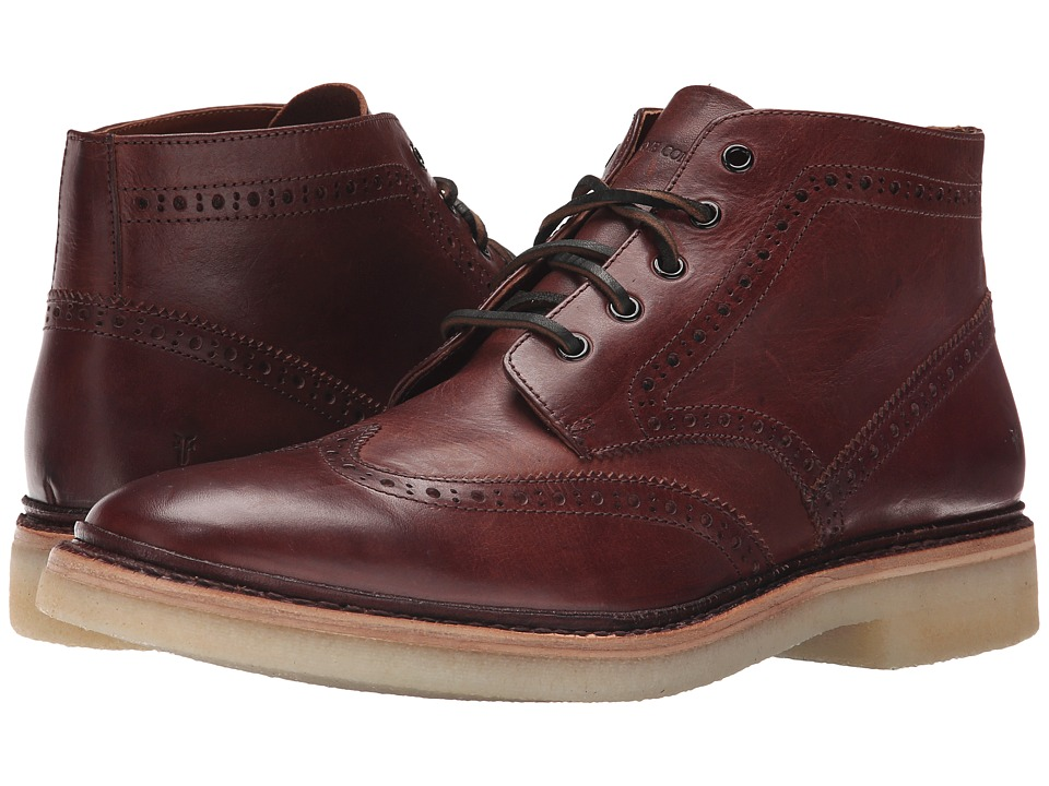 Frye Luke Wingtip Chukka (Brown Vintage Veg Tan) Men