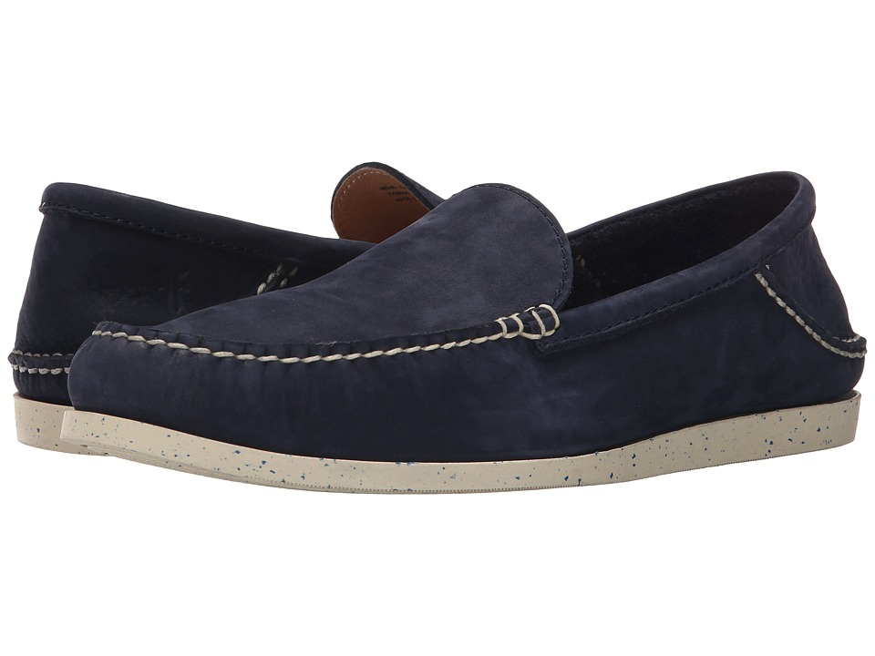 Frye - Mason Venetian (Indigo Sunwashed Nubuck) Men's Slip on Shoes