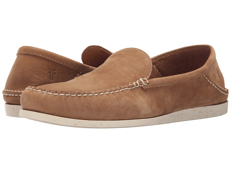 Frye - Mason Venetian (Tan Sunwashed Nubuck) Men's Slip on Shoes