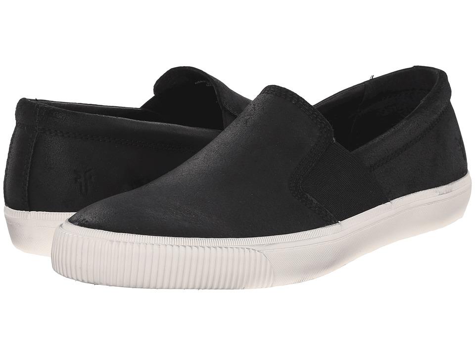 Frye Miller Slip-On (Black Waxed Vintage Leather) Men