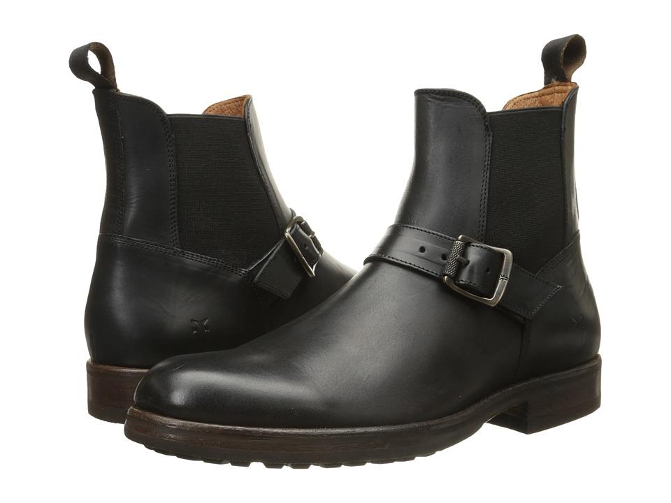 Frye - Wilson Engineer Chelsea (Black Smooth Full Grain) Men's Shoes