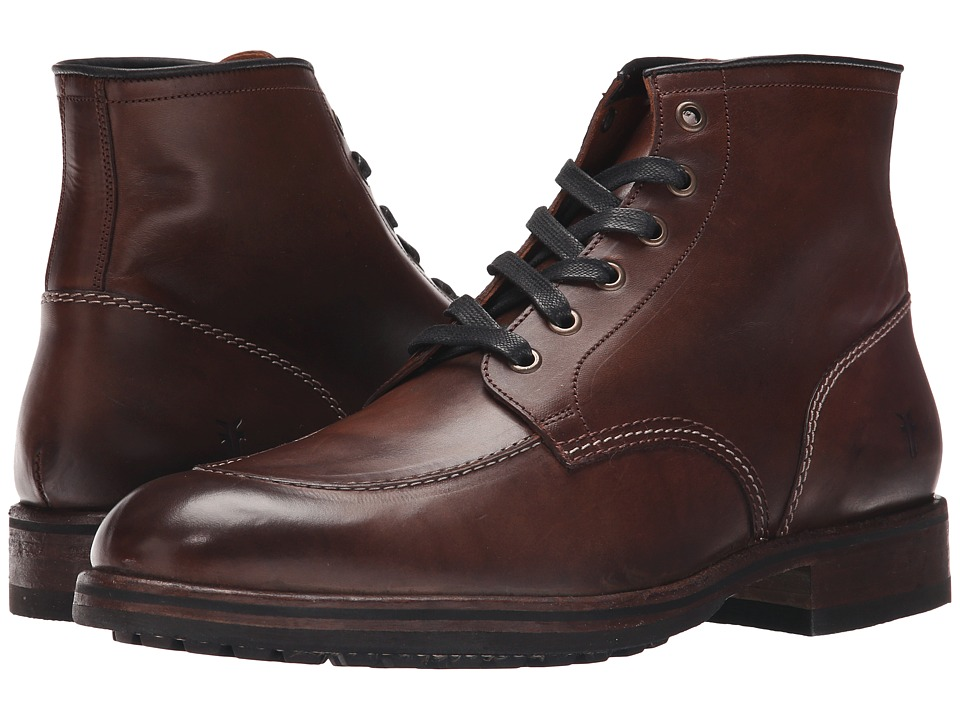 Frye - Wilson Midlace (Dark Brown Smooth Full Grain) Men's Shoes