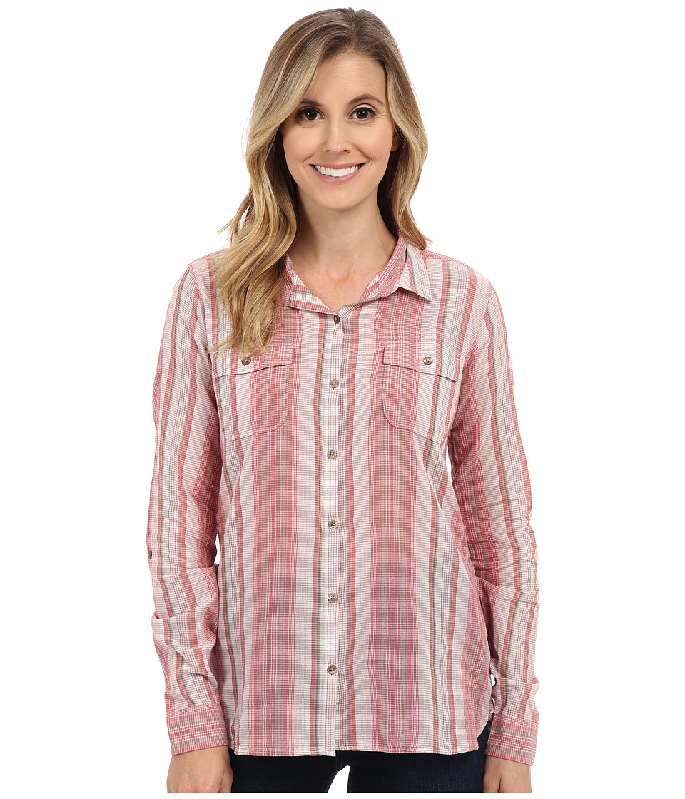 Toad&Co - Airbrush L/S Shirt (Sorbet Stripe) Women's Long Sleeve Button Up