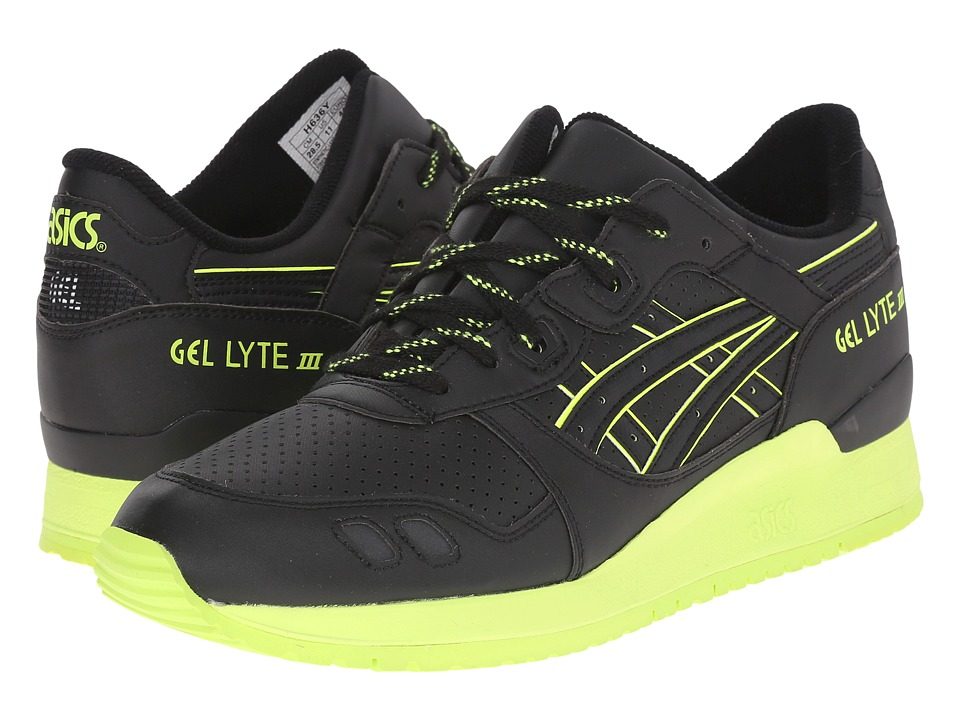 ASICS Tiger - Gel-Lyte III (Black/Black/Energy Green) Classic Shoes