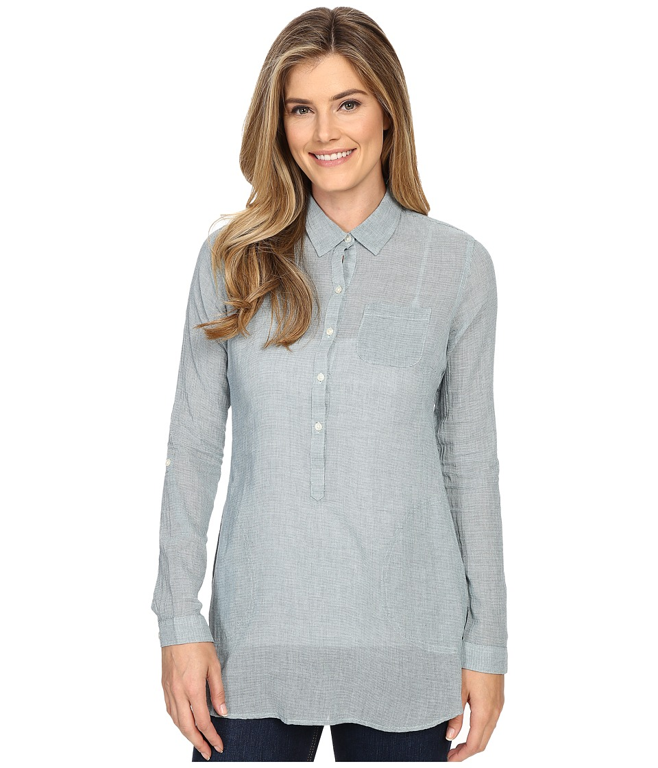 Toad&Co - Airbrush Tunic (Birds Egg) Women's Long Sleeve Button Up