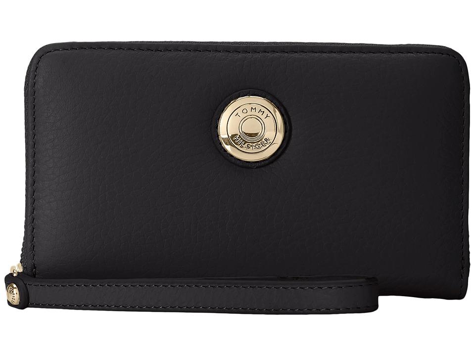 Tommy Hilfiger - Signature Coin Travel Zip Wallet (Black) Wallet Handbags