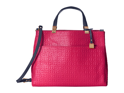 Tommy Hilfiger - Hinge Convertible Shopper (Raspberry) Tote Handbags