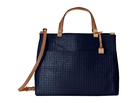 Tommy Hilfiger - Hinge Convertible Shopper (Cobalt) Tote Handbags