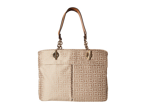 Tommy Hilfiger - Audrey Monogram Jacquard Shopper (Khaki Tonal) Tote Handbags
