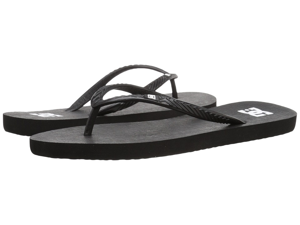 DC - Spray (Black/White/Black) Women's Sandals