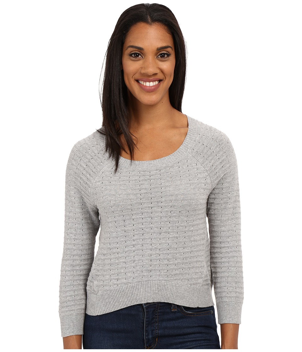 Toad&Co - Summery Cropped Pullover (Heather Grey) Women's Long Sleeve Pullover