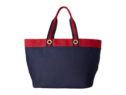 Tommy Hilfiger - Color Block Tote (Navy/Red) Tote Handbags