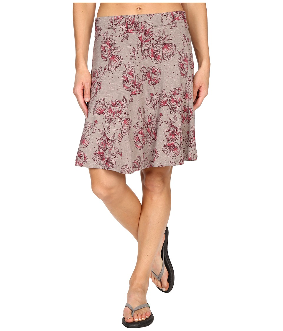 Toad&Co - Chachacha Skirt (Cocoa Poppy Print) Women's Skirt