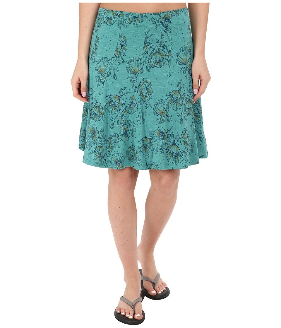 Toad&Co - Chachacha Skirt (Dark Turquoise Print) Women's Skirt